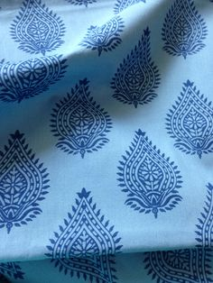 Organic Cotton, Indian Fabric, By the Yard, Indigo, Block Print, Herbal Dyed , Natural Plant Dye, Cambric Cotton, Safe Cloth, Sewing