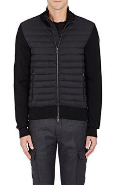 Down-Quilted Tech-Fabric & Cotton-Blend Jacket, Black | Moncler Men | Pinterest | Moncler