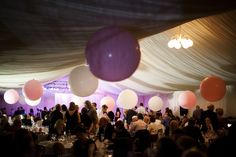 Giant Pink Balloons For a Relaxed And Elegant Scottish Castle Wedding Scottish Castles, Pink Balloons, The Balloon, Dresses Uk, I Dress, Wedding Blog, Wedding Photography, Ceiling Lights, Elegant