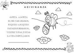 Os peques de Valeixe: ACTIVIDADES-FICHAS SOBRE LAS ABEJAS Simple Poems, Preschool Projects, Kids Songs, Bullet Journal, Comics, Singular, Sistema Solar, Peru, Printables