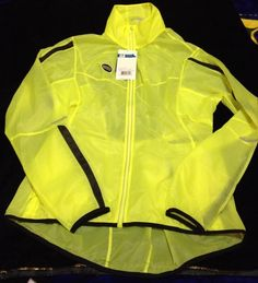 Brooks LSD Lite Jacket IV Women Large Nightlife Yellow High Viz Running Training #brooks #runhappy #highviz #beseen