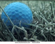 blue golf ball on ice-covered crystal grass Golf Ball, Crystals, Grass, Blue, Image, Crystals Minerals, Grasses, Herb, Crystal