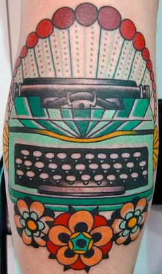 typewriter tattoo