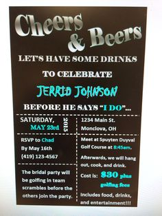 Bachelor party invitation idea