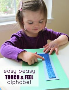 DIY Touch & Feel Letters for toddlers and kids - notimeforflashcards.com