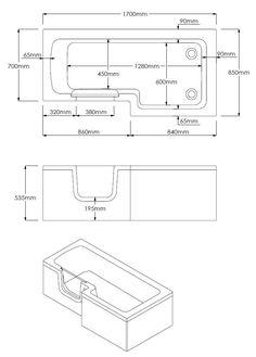 Marsden Walk In 1700mm L Shaped Bath | Victorian Plumbing.co.uk Walk In Shower Bath, L Shaped Bath, Solid Doors, Shower Screen, Glass Shower, Plumbing, Bathing, Victorian, Design