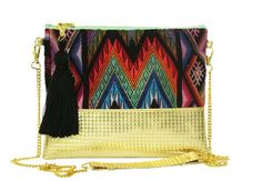 Gold - Handcrafted Clutch & Crossbody Bag Handmade Items, Handmade Products, Pure Products, Indigenous Tribes, Spring Summer 2016, Give It To Me, Crossbody Bag, Trending Outfits, Purses