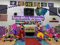 """Some of our Grand Terrace High School """"Home Sweet Homecoming"""" Rally Decor. Homecoming Signs, Homecoming Floats, Homecoming Themes, High School Homecoming, Homecoming Spirit, School Spirit Posters, Cheer Posters, Football Cheer, Softball Mom"""