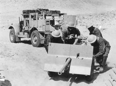 British Bofors 37 mm gun, North Africa WWII, pin by Paolo Marzioli