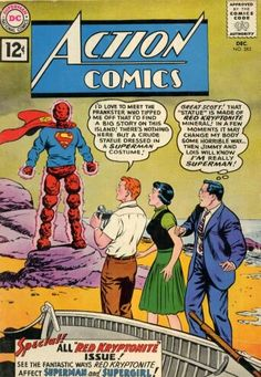 """Action Comics Vol Fair/Good Condition. This is issue of """"Action Comics"""", published in Comic is in Fair to Good Condition! The back cover has a piece missing from it. Superman Comic, Old Superman, Superman Story, Superman Action Comics, Dc Comics Art, Marvel Comics, Superman Family, Batman, Dc Comic Books"""