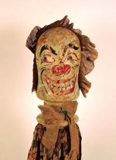 Painted wooden knockdown clown head with fabric dress. The Ron Rakaseder Collection of American Arcade & Carnival Memorabilia Auction Sale, April - 2012 Boyd Auctions Vintage Carnival Games, Vintage Circus Party, Vintage Clown, Scary Clown Makeup, Creepy Clown, Creepy Dolls, Creepy Circus, Creepy Faces, Circus Clown