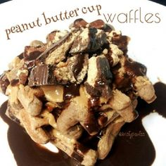 Ripped Recipes - Peanut Butter Cup Waffles - There is nothing more satisfying than a healthy treat that seems soooo naughty! This is perfect at any time of day - My WordPress Website Peanut Butter Pancakes, Sugar Free Peanut Butter, Pancakes And Waffles, Peanut Butter Cups, Protein Waffles, Protein Bread, Ripped Recipes, Protein Recipes, Protein Foods