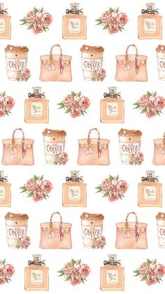 ❣︎∣ᴮᵞᵛᴵ·⁴·ᵞᴼᵁ∣❣︎ Vintage Flowers Wallpaper, Paris Wallpaper, Fashion Wallpaper, Flower Wallpaper, Phone Wallpaper Design, Computer Wallpaper, Iphone Wallpaper, Printable Scrapbook Paper, Printable Stickers