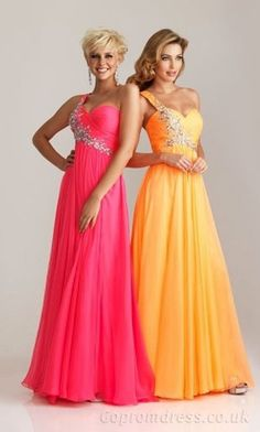long prom dress. Love the pink