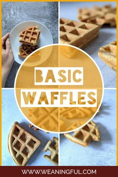 Find out how to make basic waffles from scratch with this waffle recipe that can be personalized quickly and easily. It's suitable for babies from 6 months up and makes great finger food for those just starting solids. Baby Meals, Kid Meals, Meals For One, Waffle Recipes, Baby Food Recipes, Snack Recipes, Baby First Foods, Baby Finger Foods, Easy Snacks For Kids
