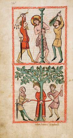 Speculum Humanae Salvationis, Westfalen oder Köln, um 1360. ULB Darmstadt, Hs 2505, fol. 36v