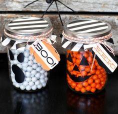 Halloween Maso Jars -Click Pic for More Ideas - #Halloween #Craft #Ideas