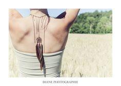 Bijou de Dos Attrape-rêves, Chainettes et plumes de faisan : Autres bijoux par femme-sauvage