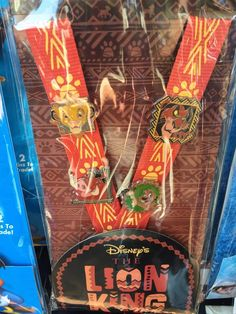 Check out the new Lion King Disney Pin Trading Starter Set! This set features characters from the Lion King and comes with a paw print lanyard.