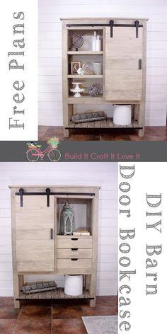 DIY Barndoor Bookcase