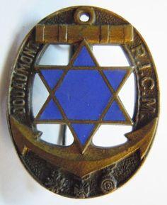 Badge RICM 1939 Star of David Colonial Troops WWII ORIGINAL Morocco