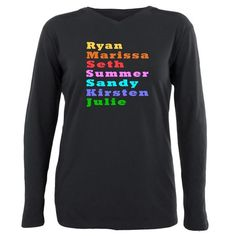 The OC Plus Size Long Sleeve Tee #TheOC #TheOCTV #OrangeCounty #Ryan #Marissa #Seth #Summer - tons of products - for all of this design click here - http://www.cafepress.com/dd/105709188