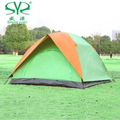 Outdoor camping tent 2 person Double layer waterproof Tent 3-4 awning recreation Double door Beach Tourist tents camping family
