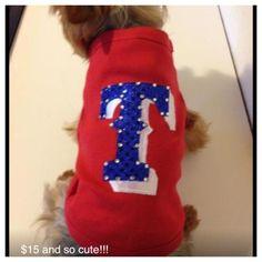 Texas Rangers Dog Bling T-Shirt on Etsy, $15.00