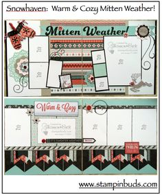 This is my CTMH Snowhaven Scrapbooking Kit I created in 2015.  Instructions are also available on my blog. #Scrapbooking #CTMH #Winter www.stampinbuds.com