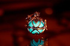 2 pendants in one  GLOW in the DARK by Papillon9 on Etsy