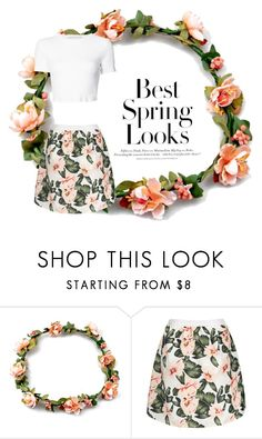 """best spring looks"" by lilyismyname-13 ❤ liked on Polyvore featuring H&M and Rosetta Getty"