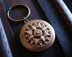 Father's Day SALE  Compass Keychain  by TimeTravelerBoutique, $25.00