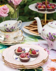 Our Five Favorite Spring-Inspired Desserts - Victoria Chocolate Cups, Decadent Chocolate, Lady Grey Tea, Victoria Magazine, Pink Cocktails, Sweet Violets, Company Picnic, Summer Parties, High Tea