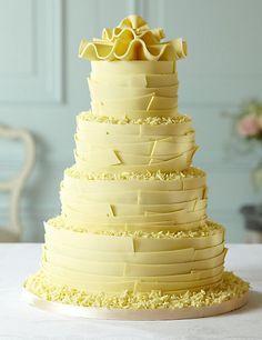 White Chocolate Ribbons Wedding Cake | M&S