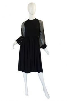 1960s Silk Chiffon Galanos Cocktail Dress