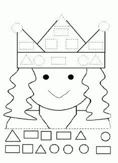Geometrik Çizgi Çalışma Sayfası Pre K Activities, Montessori Activities, Kindergarten Activities, Preschool Activities, Homeschool Preschool Curriculum, Preschool Education, Preschool Worksheets, Teaching Shapes, Shapes For Kids