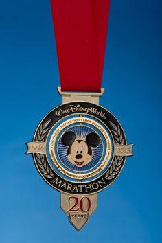 The WDW 1/2 Marathon medal, a long-term goal I'm striving to achieve...