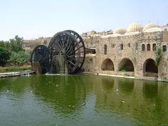 Hama, Syria's Water Wheels: Wild, Weird and Wonderful? Thing 1, Weird And Wonderful, Syria, Pretty Cool, Water Wheels, Taj Mahal, Building, Travel, Islamic