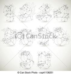 Vector - Perspective technology demolished numbers with black lines and dots connected, polygonal wireframe font. Explosion effect, Set of abstract faceted mathematics elements cracked into fragments. - stock illustration, royalty free illustrations, stock clip art icon, stock clipart icons, logo, line art, EPS picture, pictures, graphic, graphics, drawing, drawings, vector image, artwork, EPS vector art