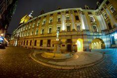Uniwersytet, fontanna z Szermierzem