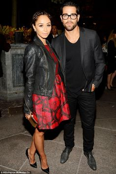 Cute couple: Cara Santana and her fiance Jesse Metcalfe pose together at the annual event