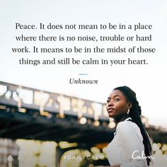 Calm app quote about peace Just Be You, Fun To Be One, Calm App, Daily Calm, Inner Peace Quotes, I Am Worthy, Quote Of The Week, Calm Quotes, It's Meant To Be