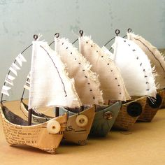 """Hopemore: Summer is sailing away - CUTE birthday theme when he's like 3 or 4? These could be favors and they could """"sail"""" them in a wading pool."""