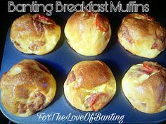 Breakfasts are often difficult. Its a mad rush getting ourselves and our children ready - so making a homemade breakfast seems like a dau. Banting Breakfast, Homemade Breakfast, Breakfast Recipes, Banting Diet, Banting Recipes, Lchf, Paleo Recipes, Savory Muffins, Breakfast Muffins