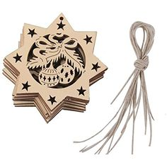XINIDUN Wooden Snowflake Pendant Christmas Tree Decoration Ornaments with String DIY -- Learn more by visiting the image link. (This is an affiliate link) #HomeDcorAccents