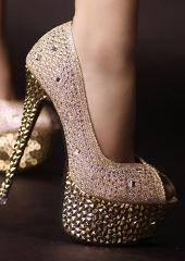 leather silver powder peep toe sandals