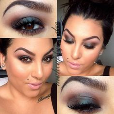 Beautiful smokey eyes using the galaxy pigment from http://alexapersicocosmetics.com this pigment is one of my favorites. It's also equivalent to mac cosmetics blue brown pigment to give you an idea.