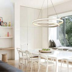 Masszív vasból és alumíniumból készült kiváló minőségű függő világítás, mely bármelyik otthonod előkelő dekorációs eleme lehet. Használd bátran a nappaliban vagy az étkeződben és garantáltan elégedett leszel vele. White Pendant Light, Led Pendant Lights, Modern Pendant Light, Led Ceiling Lights, Ceiling Lamp, Pendant Lamp, Pendant Lighting, Kitchen Lamps, Living Room Kitchen