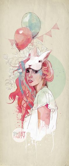 Gorgeous! Sweet Party by Ariana Perez, via Behance