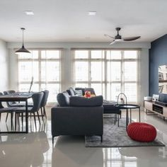9 Stunning HDB Executive Maisonette Homes that Look Like Landed Property Interior Design Website, Site Design, Home Decor Kitchen, Condominium, Design Firms, Home Renovation, This Is Us, Homes, Contemporary